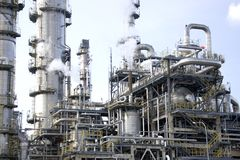 Oil Refinery. Equipment at an oil refinery facility Stock Images