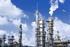Oil Refinery. Equipment at an oil refinery facility Stock Photos