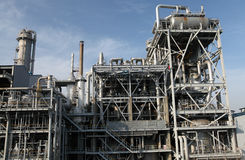 Oil refinery. Equipment at an oil refinery facility Royalty Free Stock Image