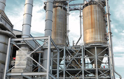 Oil refinery. Equipment at an oil refinery facility Stock Image