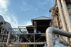 Oil refinery. Equipment at an oil refinery facility Royalty Free Stock Images