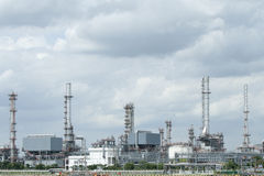 Oil refinery Royalty Free Stock Photos