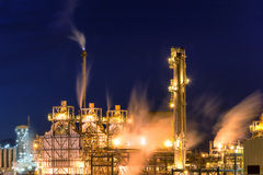 Oil refinery. Grangemouth oil refinery at night Stock Photo