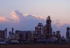 Oil refinery Stock Photos