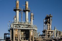 Oil Refinery 3 Royalty Free Stock Images