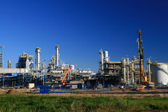 Oil refinery. Construction in day Royalty Free Stock Images