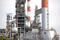 Oil Refinery. Image of oil refinery equipment in Malaysia Stock Photo
