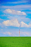 Oil refinery. A view of an oil refinery in Macedonia Stock Photos