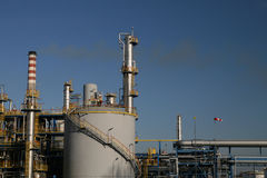 Oil refinery. Construction in day Stock Photography