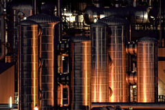 Oil Refinery. Initimate parts of a chemical installation Stock Image