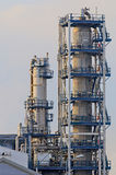 Oil Refinery. Initimate parts of a chemical installation Royalty Free Stock Image