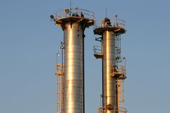 Oil Refinery #6 Royalty Free Stock Image