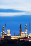 Oil Refinery. An oil refinery working through the night Royalty Free Stock Photo