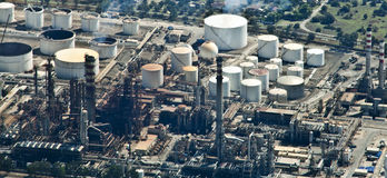Oil Refinery, aerial view royalty free stock image