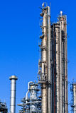 Oil Refinery (blue sky) Royalty Free Stock Images