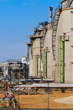 Oil Refinery (blue sky) Stock Images