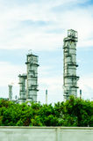 Oil refinery. And blue sky Stock Photography