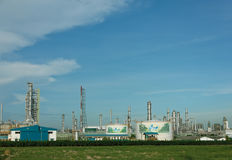 Oil refinery on blue sky background. Stock Images