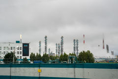 Oil refinery building industry Stock Photo