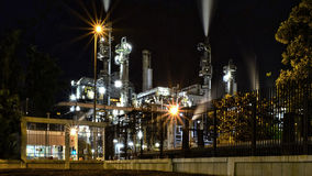 Oil refinery building Royalty Free Stock Photography