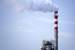 Oil Refinery Chimney Royalty Free Stock Images