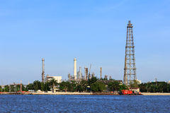 Oil refinery with chimney Stock Photography