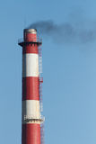 Oil refinery chimney Stock Photography
