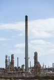 Oil refinery chimney Royalty Free Stock Photos