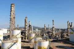 Oil Refinery Construction Site View Stock Photography