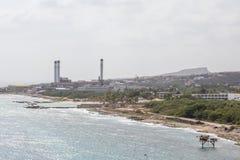 Oil Refinery on Curacao Stock Photos