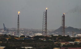 Oil refinery Curacao Views Royalty Free Stock Photo