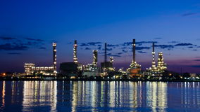 Oil refinery. Oil refinery at dawn. Bangkok, Thailand. Time lapse stock video footage