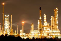 Oil Refinery in daytime Royalty Free Stock Photos