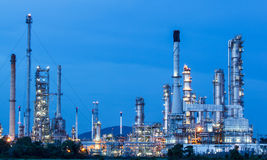 Oil Refinery in daytime Royalty Free Stock Images