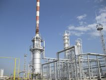 The oil refinery Royalty Free Stock Photos