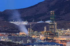 Oil refinery facilities Royalty Free Stock Photography