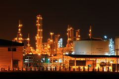 Oil refinery factory Royalty Free Stock Photo