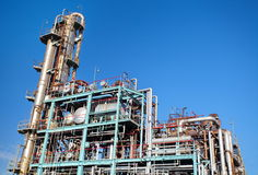 Oil Refinery factory Royalty Free Stock Photography
