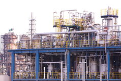 Oil Refinery factory Royalty Free Stock Images