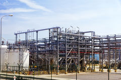 OIL Refinery factory. Royalty Free Stock Photos