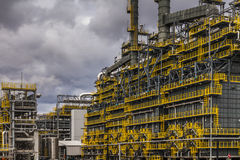 Oil Refinery factory at the cloudy sky, petrochemical plant, Stock Photography