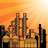 Oil refinery factory Stock Photos