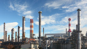Oil refinery - factory Royalty Free Stock Photos