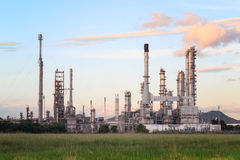 Oil Refinery factory in the morning. Petrochemical plant , Petroleum Royalty Free Stock Photography