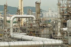 Oil Refinery factory morning Royalty Free Stock Photo