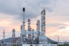 Oil Refinery factory in morning sunrise Stock Images