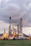 Oil Refinery factory in morning sunrise Royalty Free Stock Images