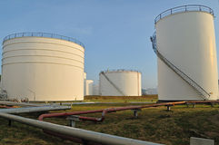 Oil Refinery factory morning Stock Photography