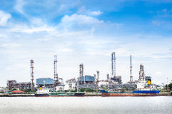 Oil refinery factory Stock Photography