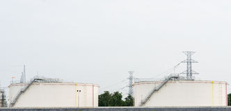 Oil refinery factory plant or chemical industrial and oil tank Stock Photography